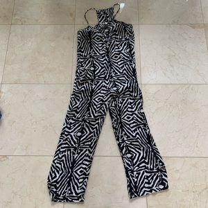 Zara Zebra Jumpsuit Romper Size XS silklike